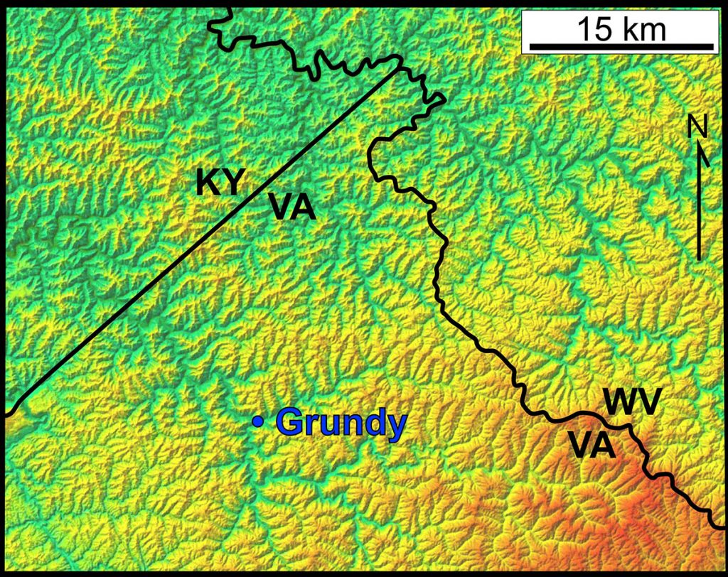 Digital Elevation Model of the Appalachian Plateau Province