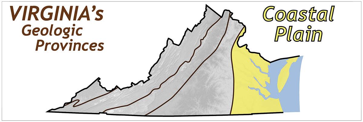 Coastal Virginia Map.Coastal Plain The Geology Of Virginia