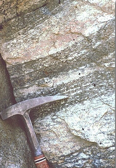 Mesoproterozoic layered gneiss