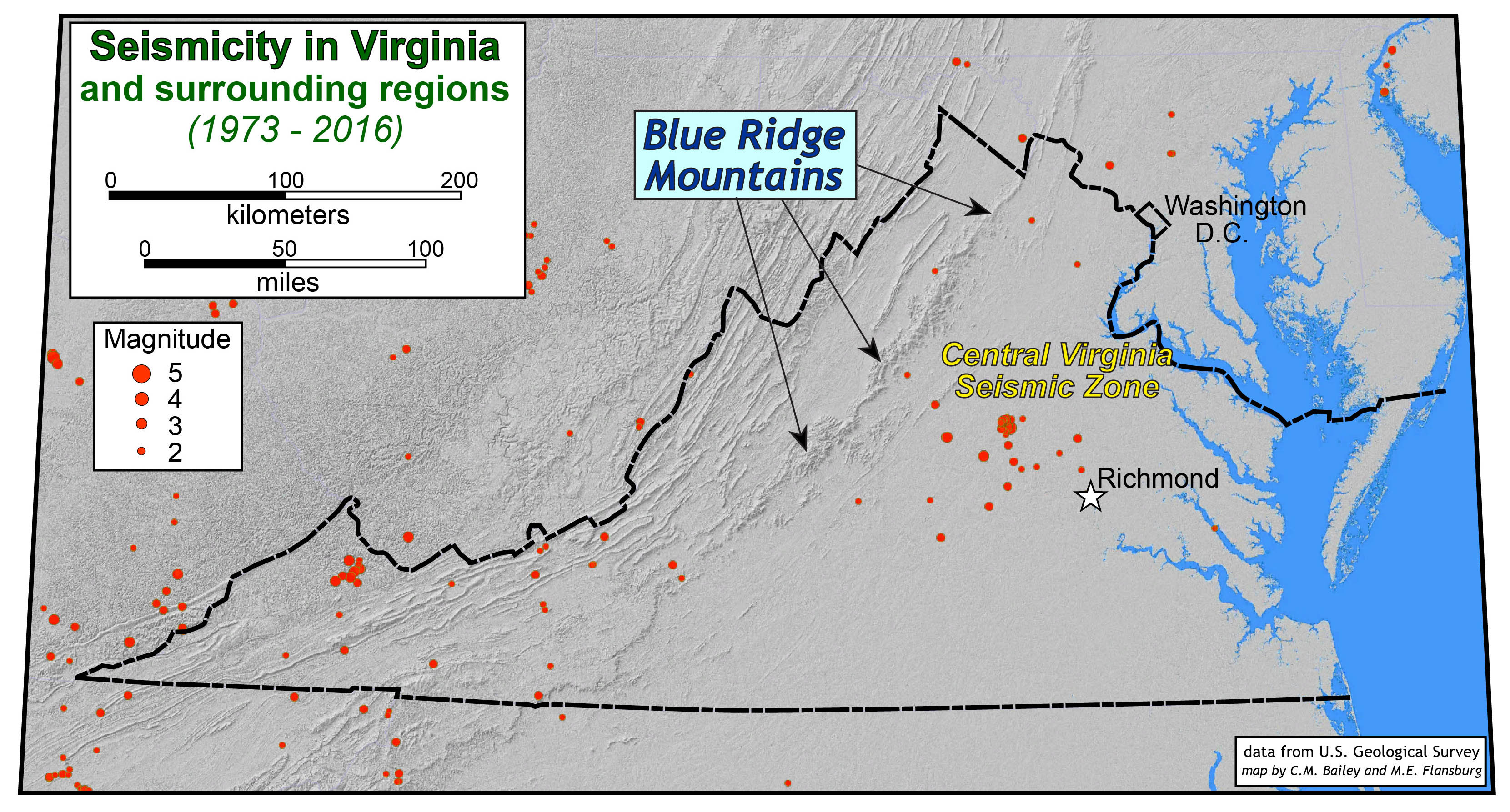 Central Virginia Map.Maps And Diagrams The Geology Of Virginia
