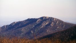 The NW face of Old Rag Mountain, which is situated in the Shenandoah National Park. This mountain is famous for the rock scramble that is at the top.