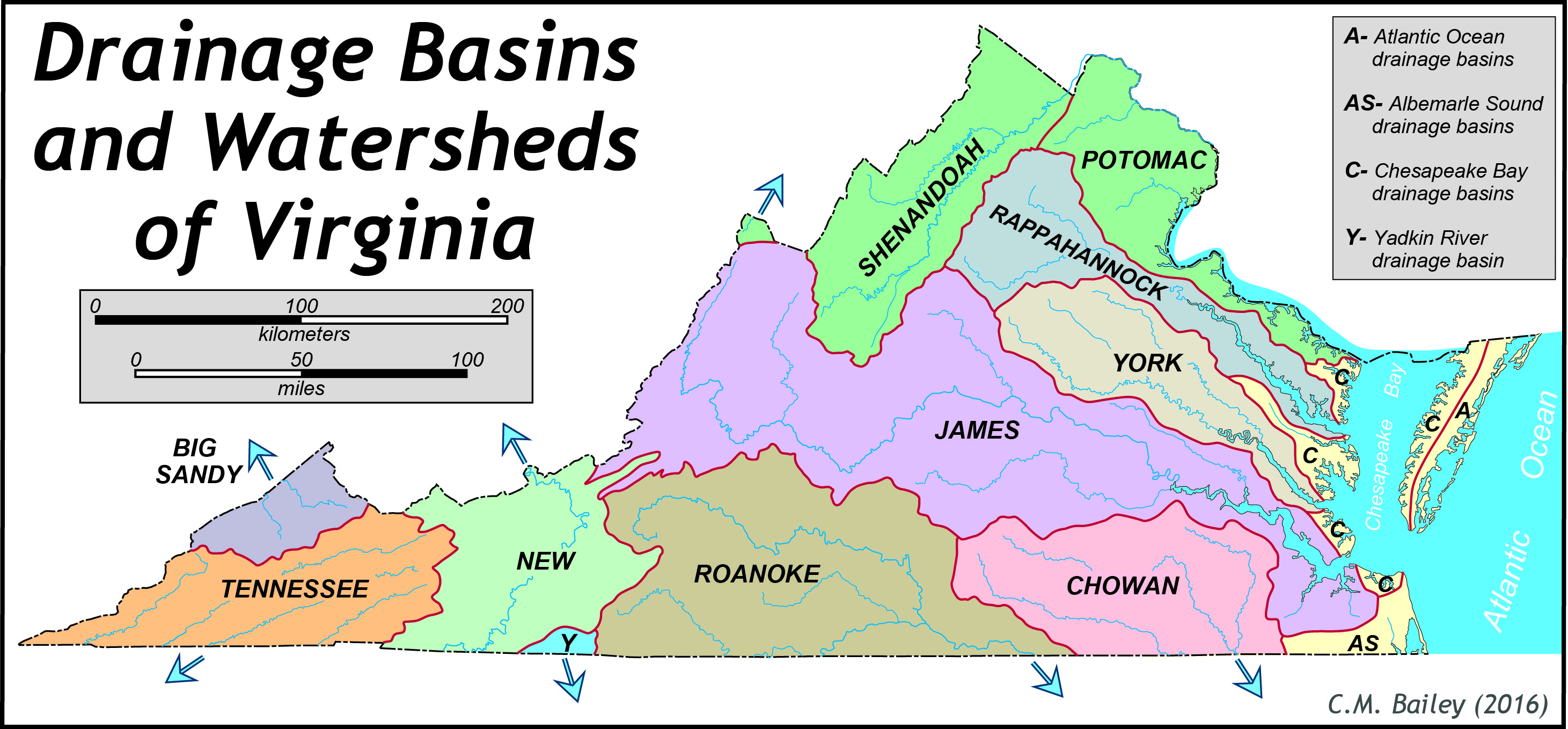 Hydrology The Geology Of Virginia - United states major river systems map