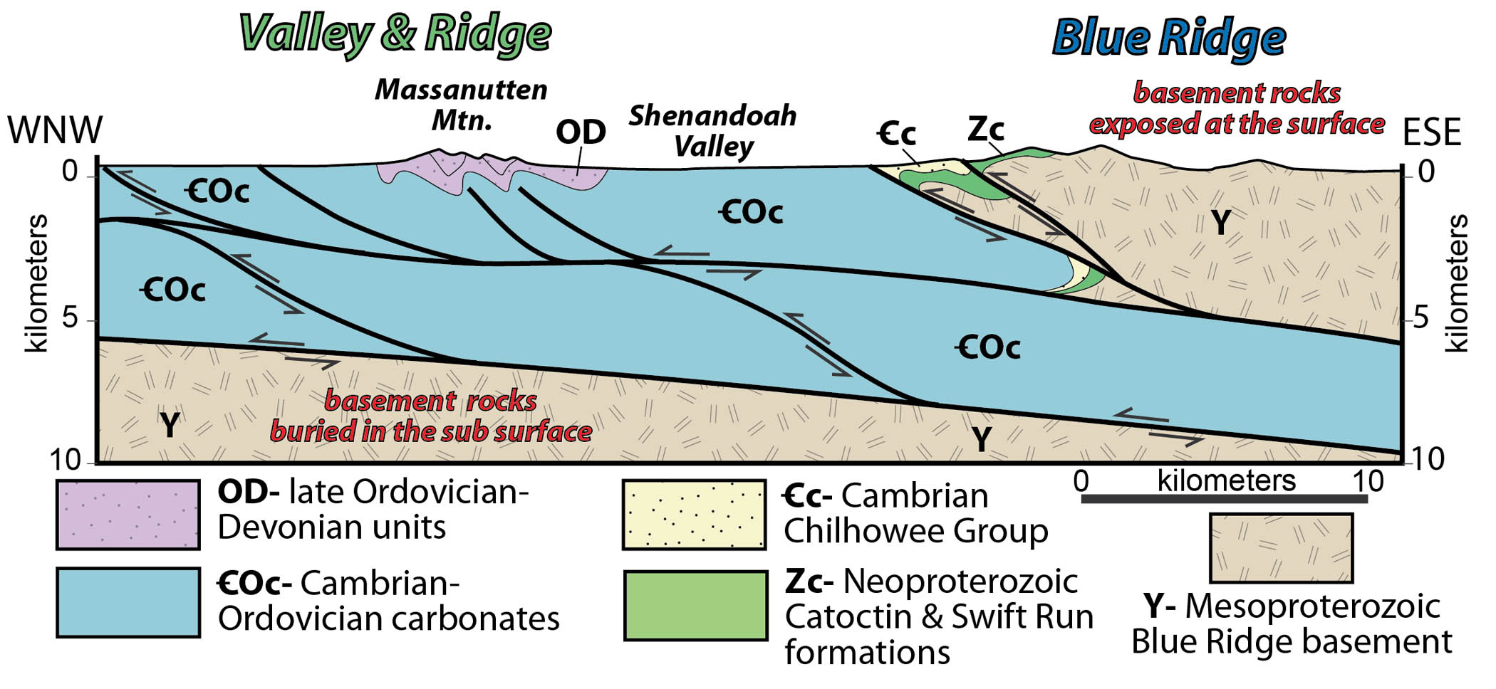 Blue Ridge Mountains West Virginia Map.Blue Ridge The Geology Of Virginia