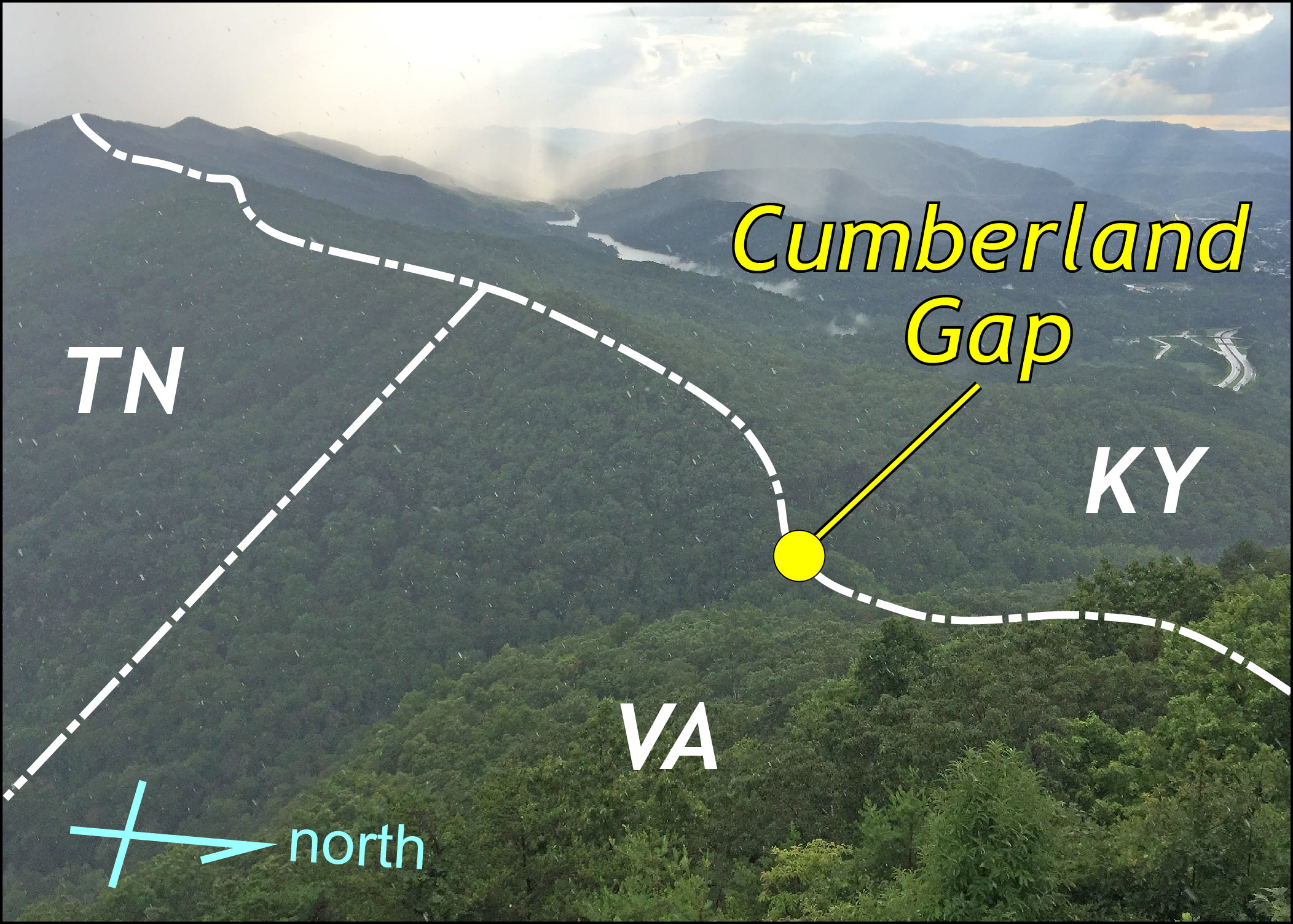 The Cumberland Gap The Geology Of Virginia