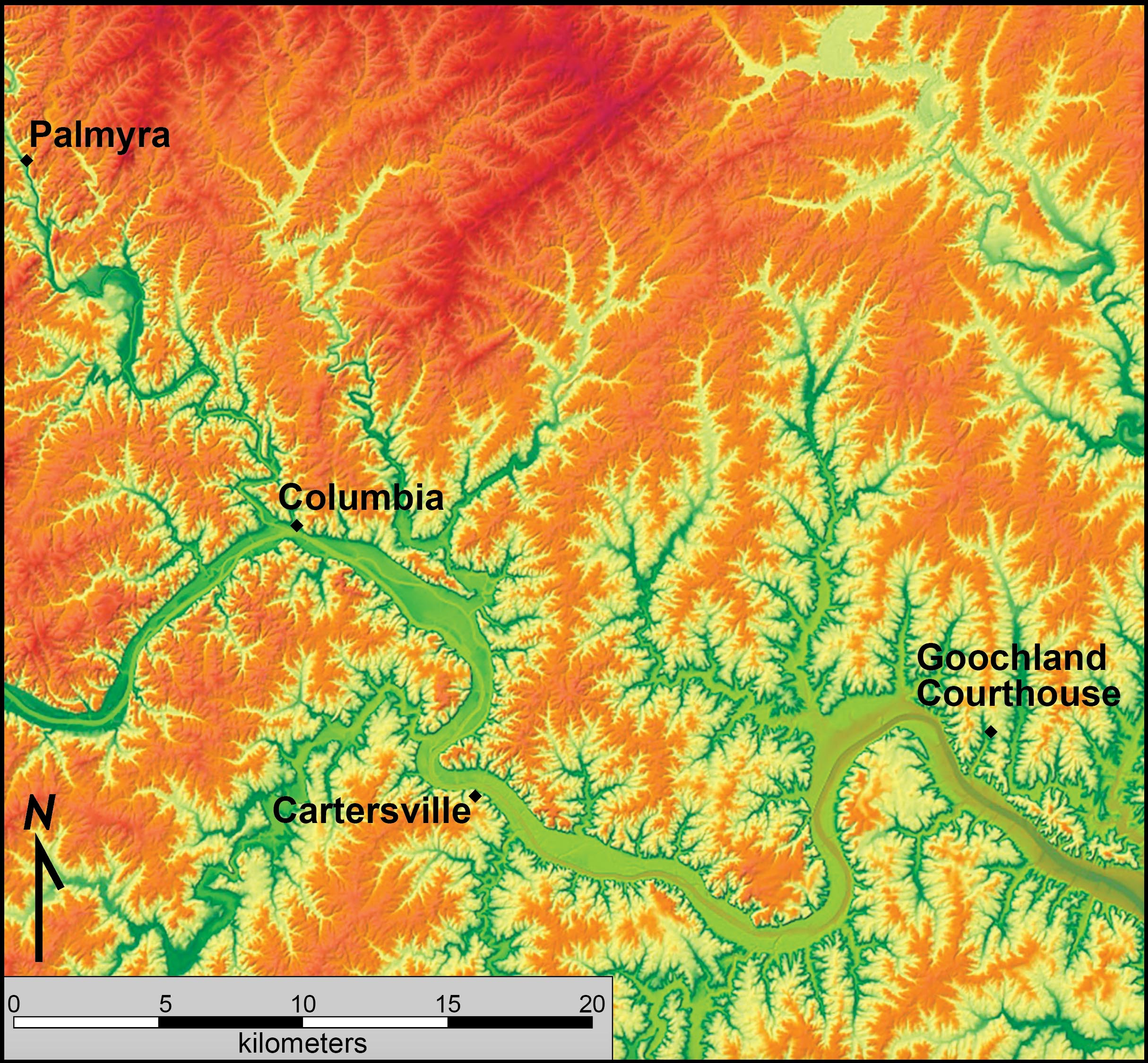 Relief Map Of Virginia.Piedmont The Geology Of Virginia