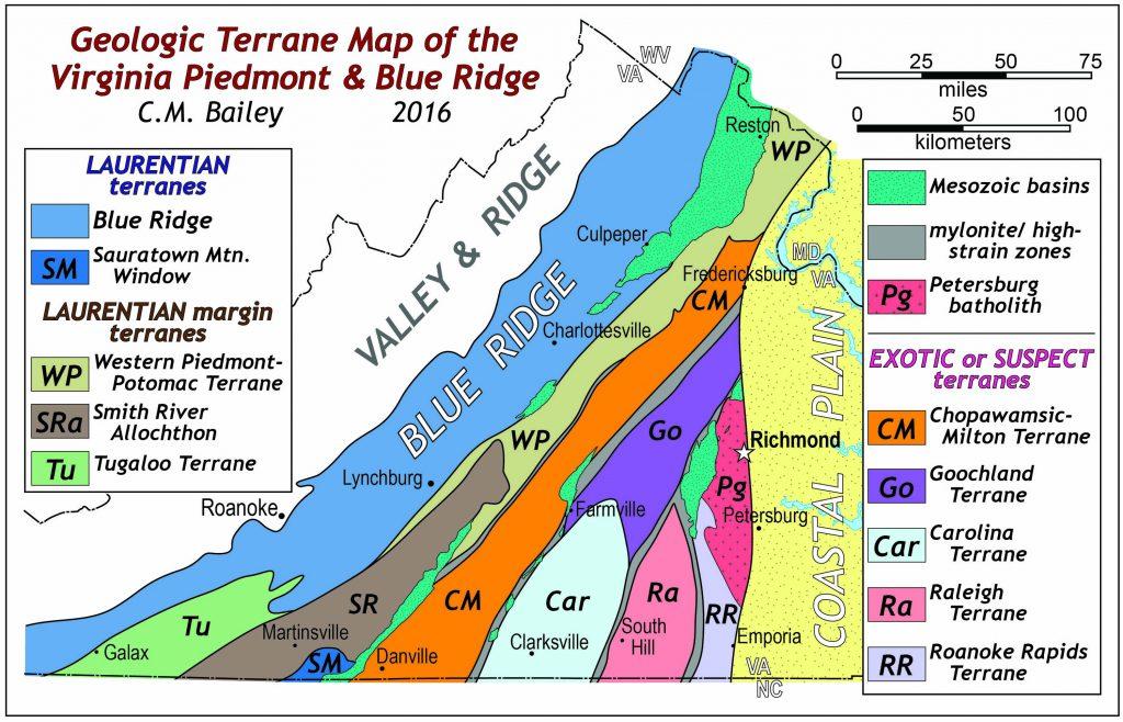Virginia Terrane Map